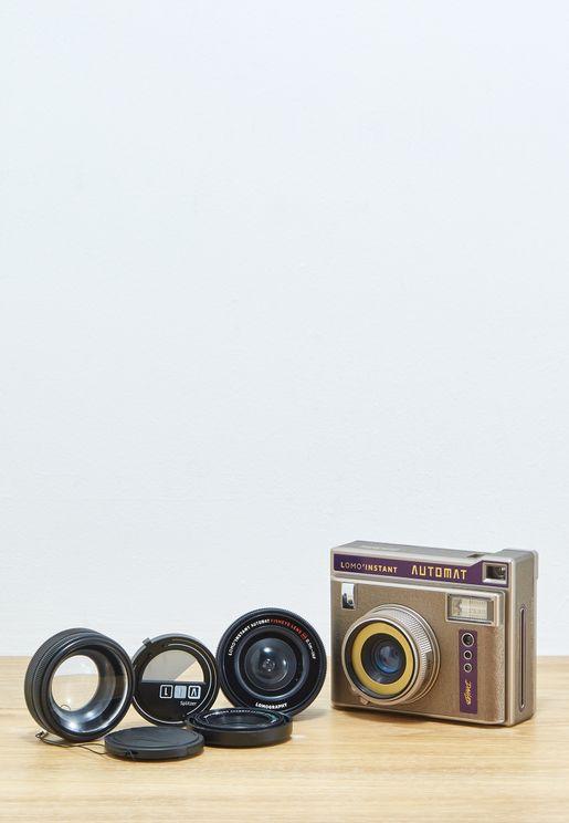 كاميرا لومو انستانت اوتومات داهب + العدسات