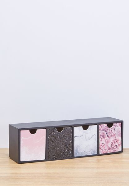 Black Pink Marble Quick Drawer