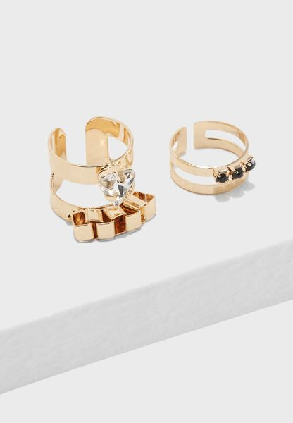 Multipack Jeweled Rings