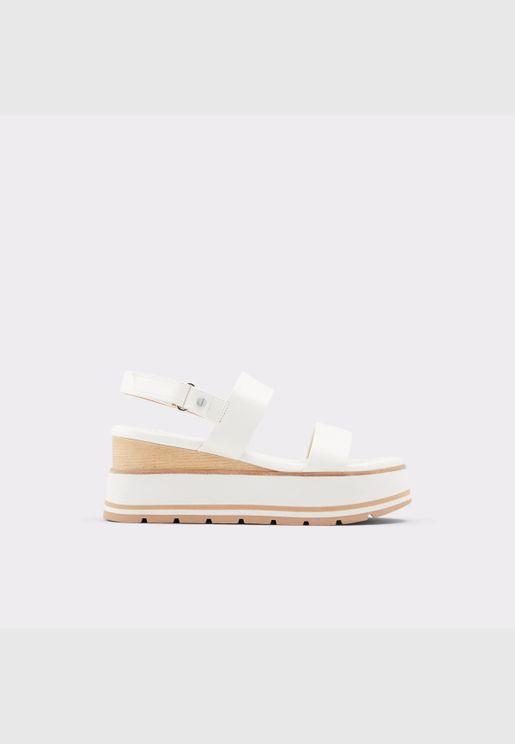 ALDO ONALISA Women Synthetic Leather Shoes Wedge Heel Heel Euro 41 White
