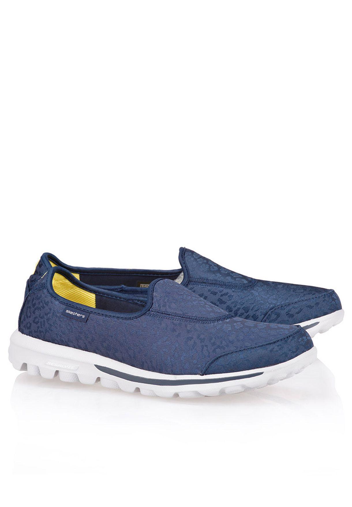 f4810563a9f0 Shop Skechers navy Go Walk Safari Comfort Shoes 13753-NVY for Women in  Kuwait - SK034SH28GBJ