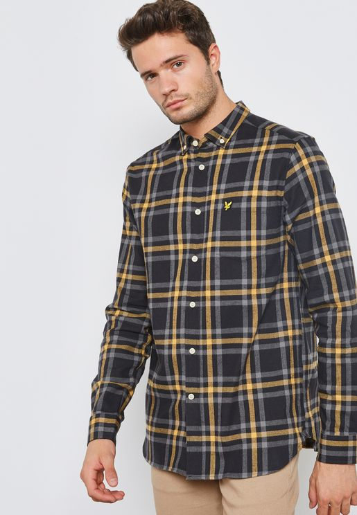 Check Print Flannel Shirt