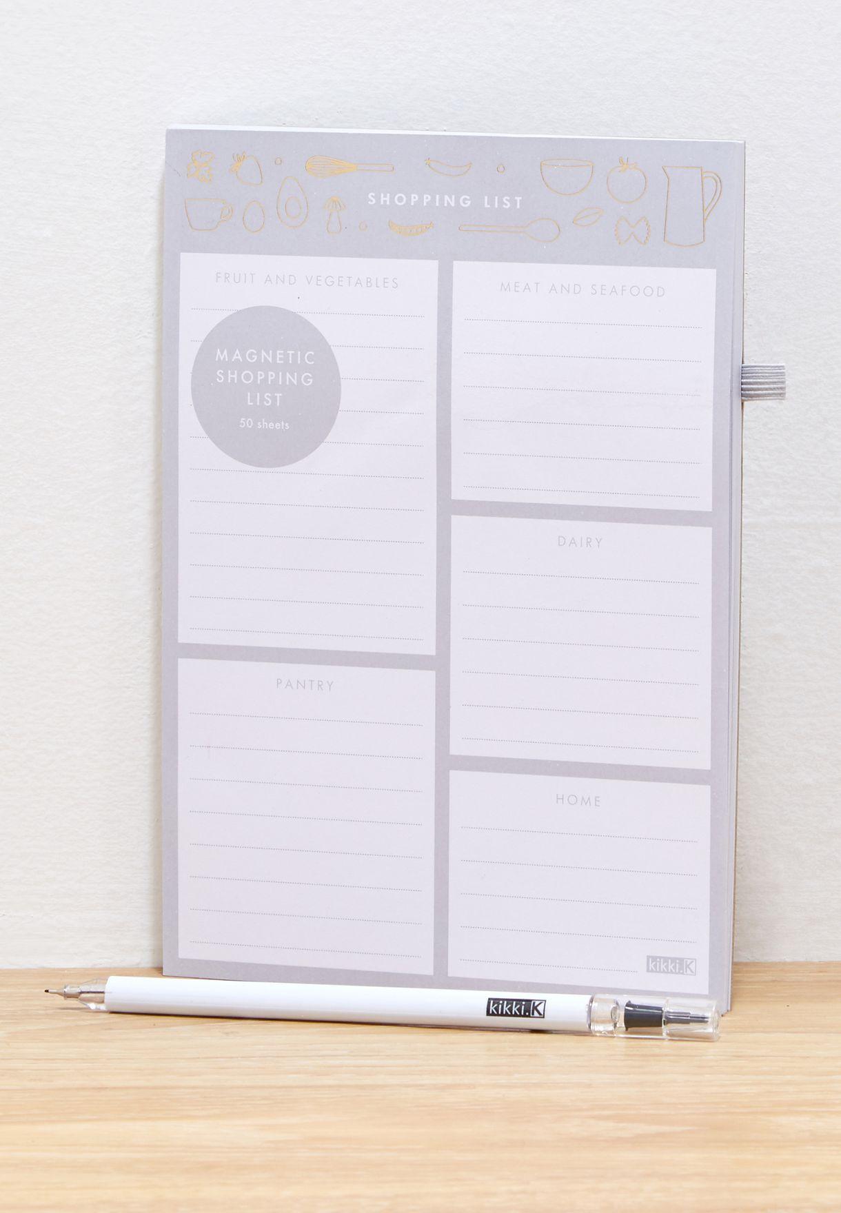 جدول تخطيط للمشتريات بقياس A5