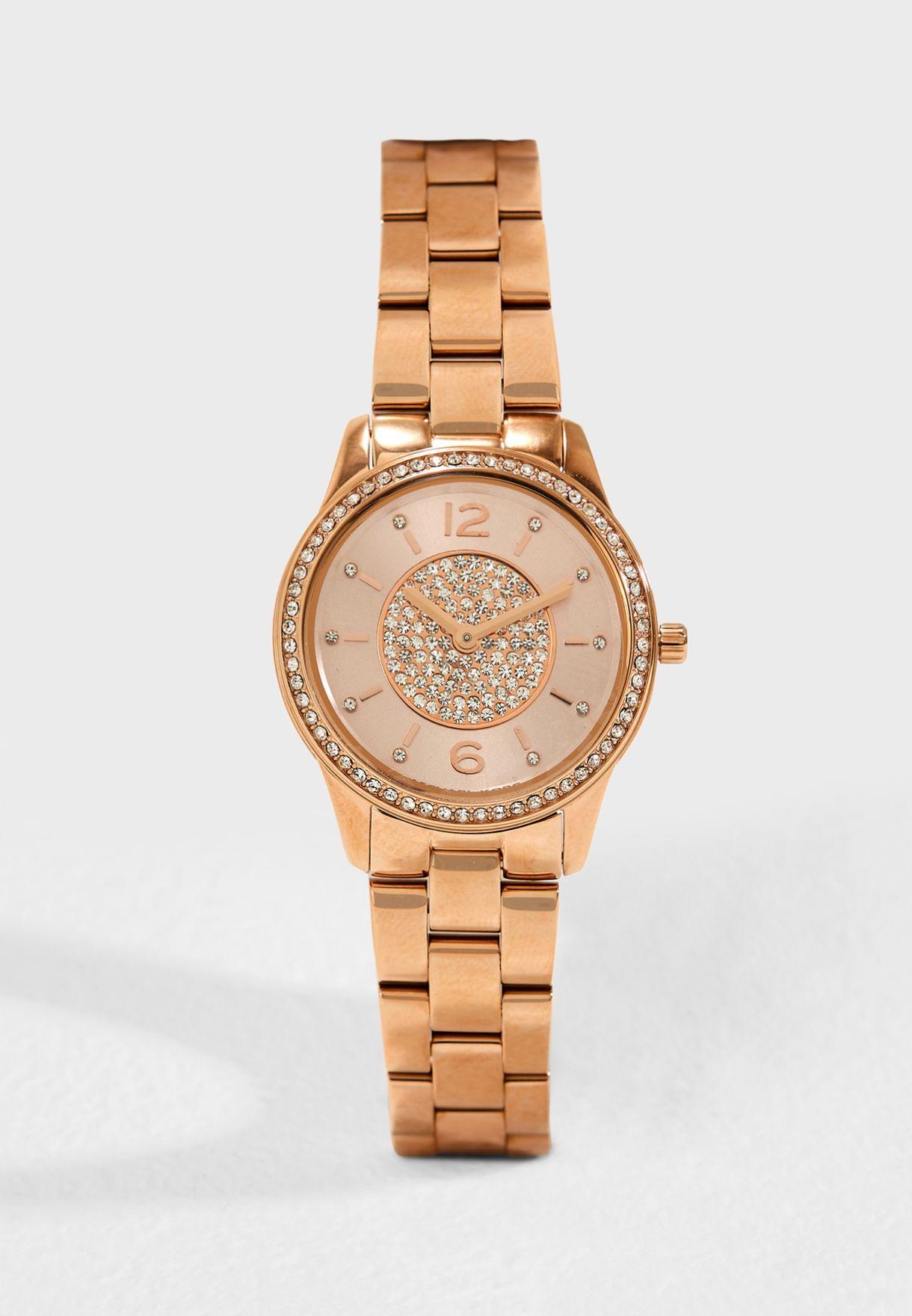 78442a1c1312 Shop Michael Kors rosegold MK6619 Runway Jetset Watch MK6619 for ...