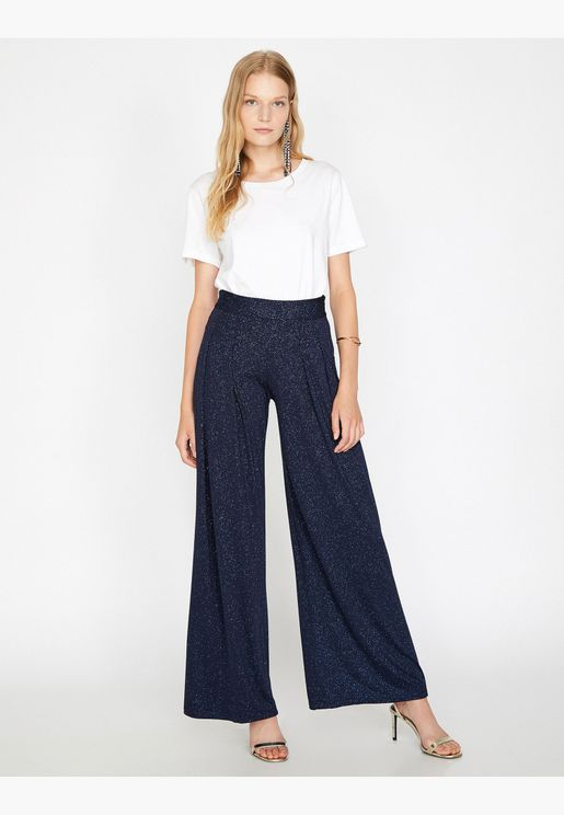 Shimmer Detailed Trousers