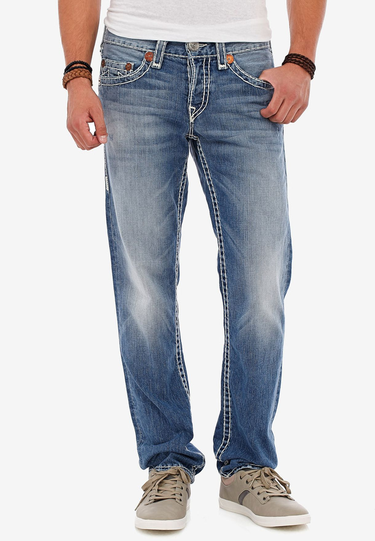 37cee2878 Shop True religion blue Geno Slim Jeans for Men in Kuwait - TR459AT18XOR