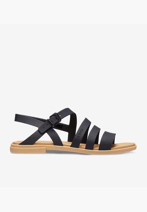 womens crocs tulum sandal-black