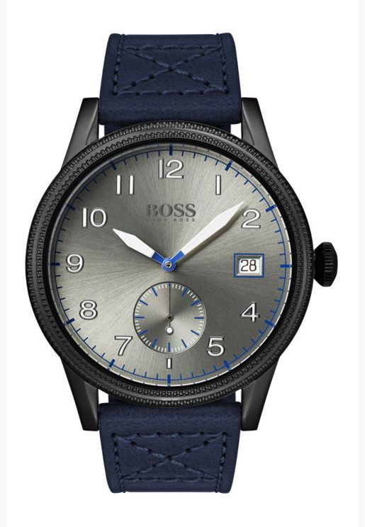 ساعة هيوغو بوس ليجاسي بسوار جلدي للرجال - 1513684