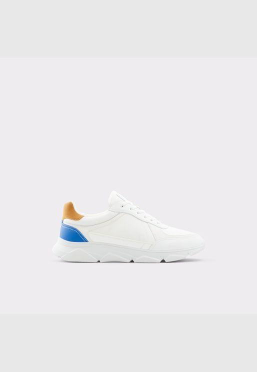 ALDO BRADD Men Synthetic Leather Shoes Flat Heel Euro 46 White