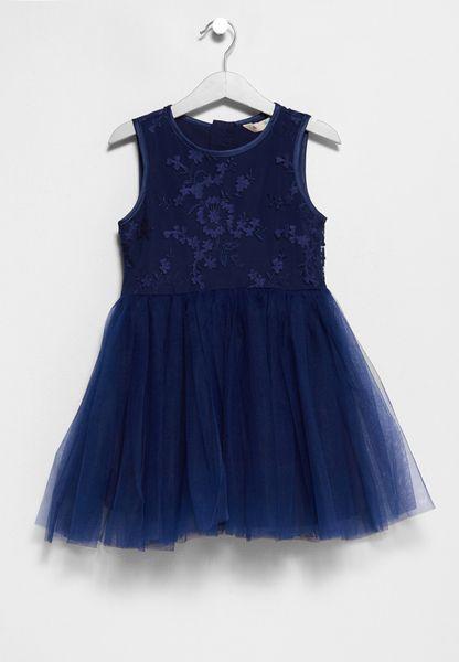 Tween 3D Flower Dress