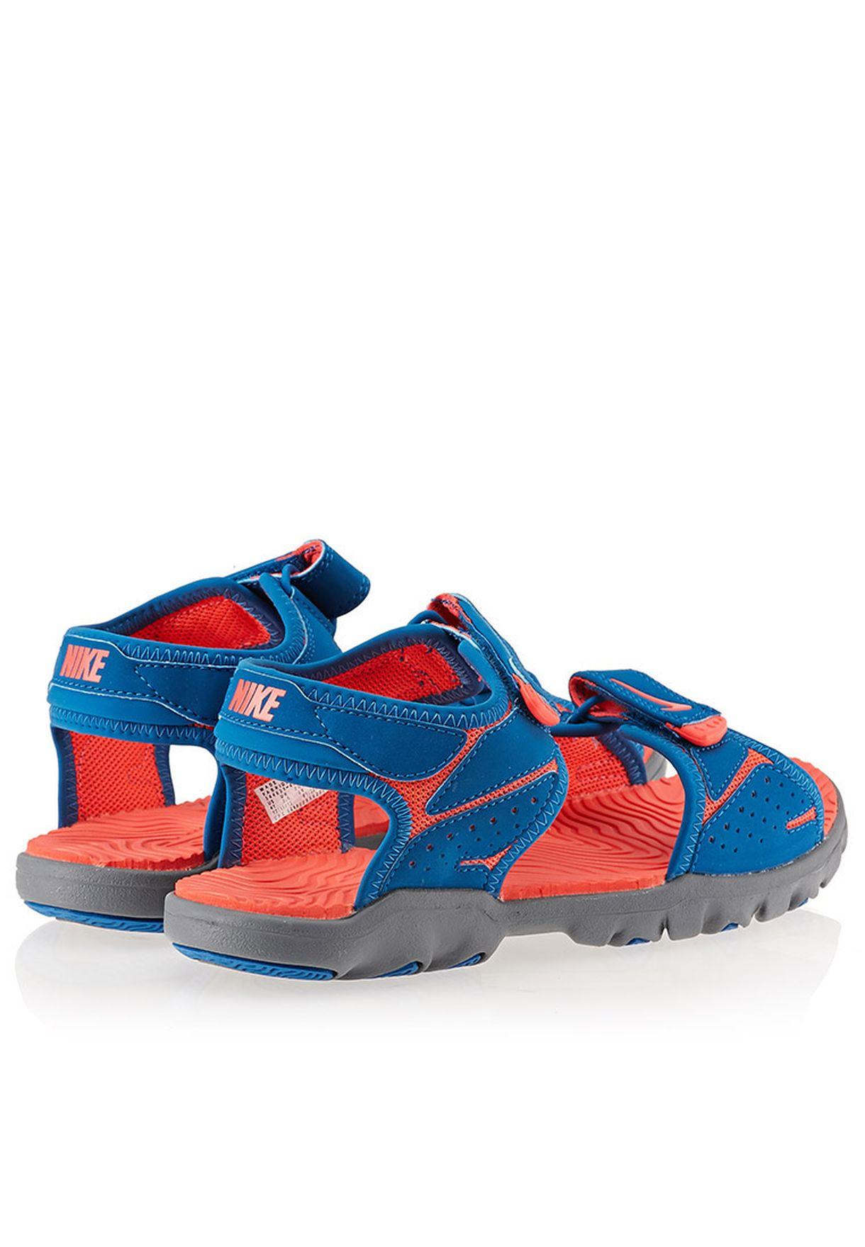 883cc0e76d0 Shop Nike blue Santiam 5 Sandals 344631-401 for Kids in Bahrain ...