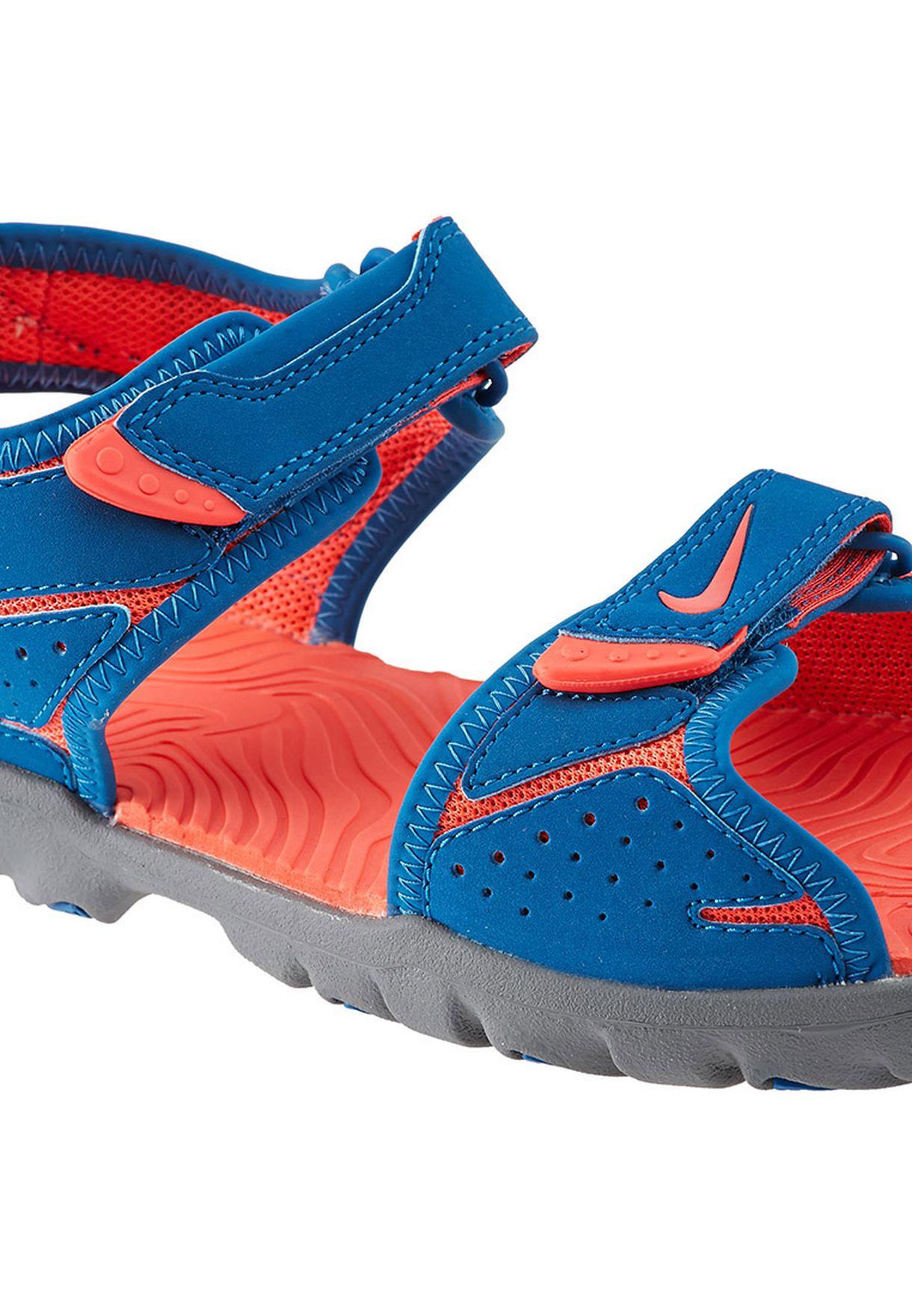 4907e7fb7a89 Shop Nike blue Santiam 5 Sandals 344631-401 for Kids in Saudi ...