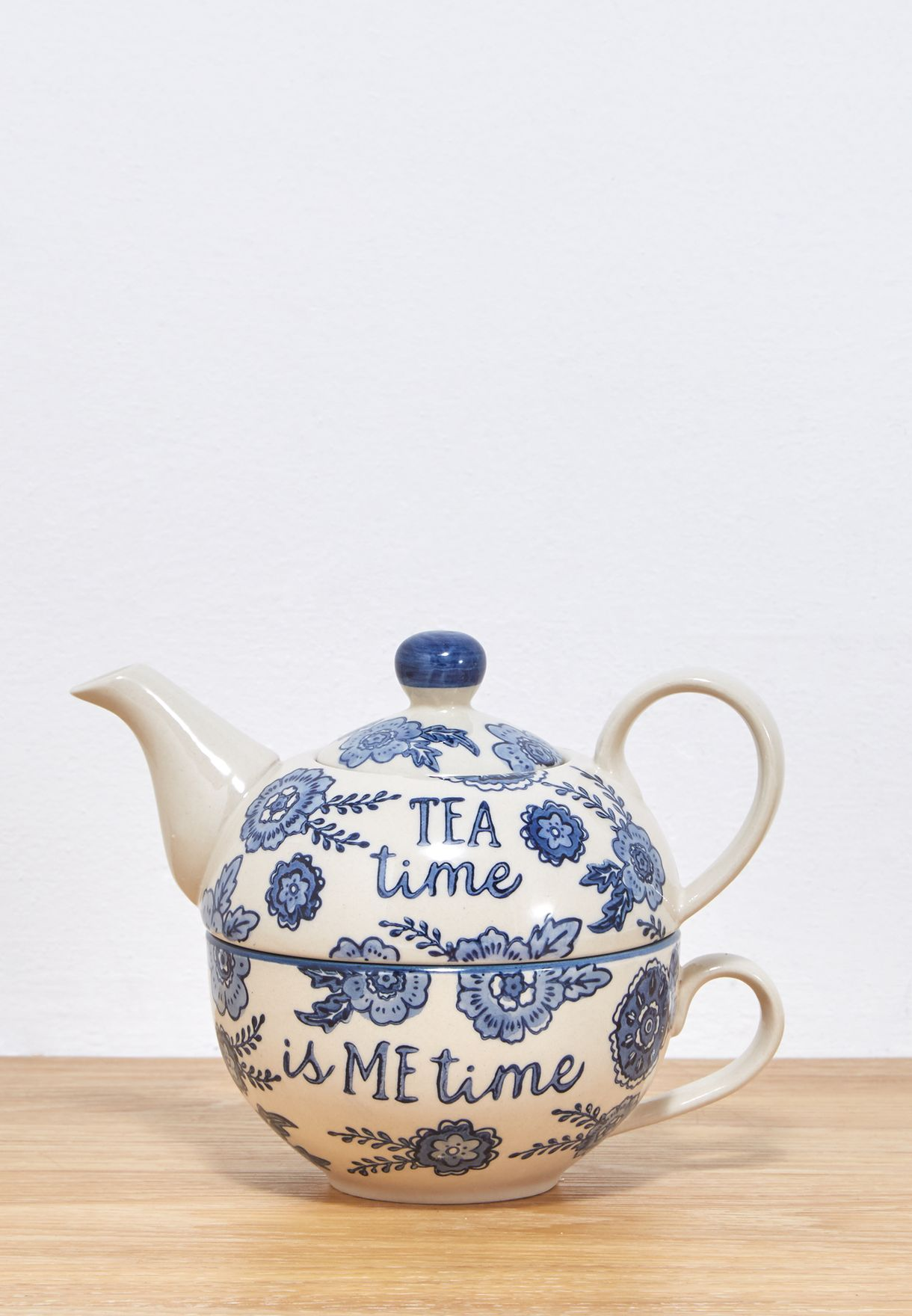 طقم (ابريق شاي + فنجان) لشخص واحد