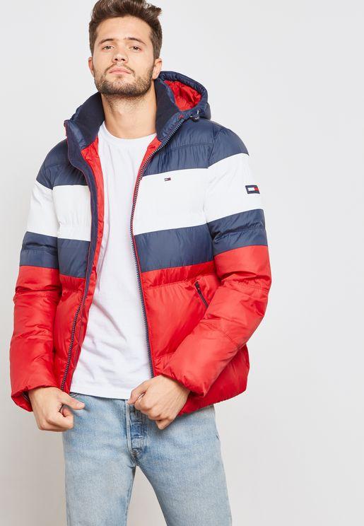 Striped Hoodied Jacket