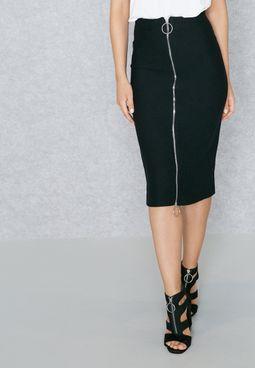 Front Zip Skirt