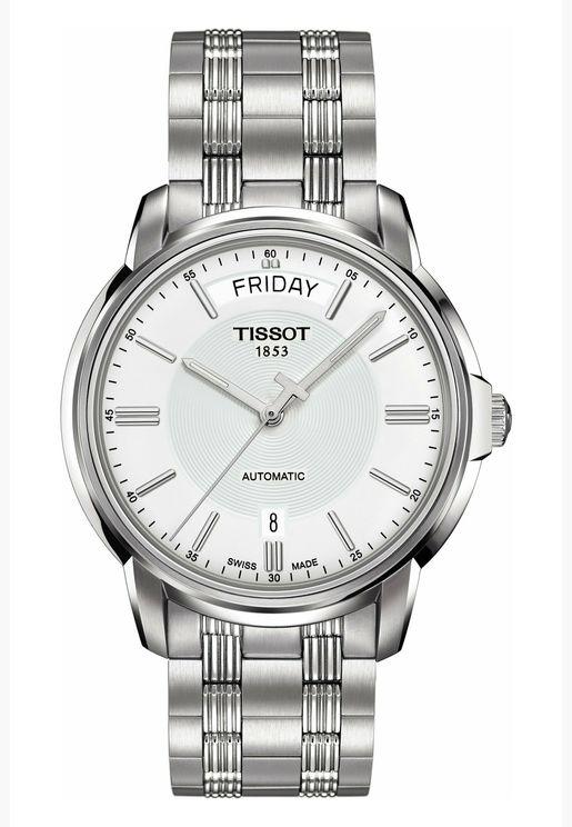 ساعة تيسو اتوماتيكس III للرجال بسوار فولاذي - T065.930.11.031.00