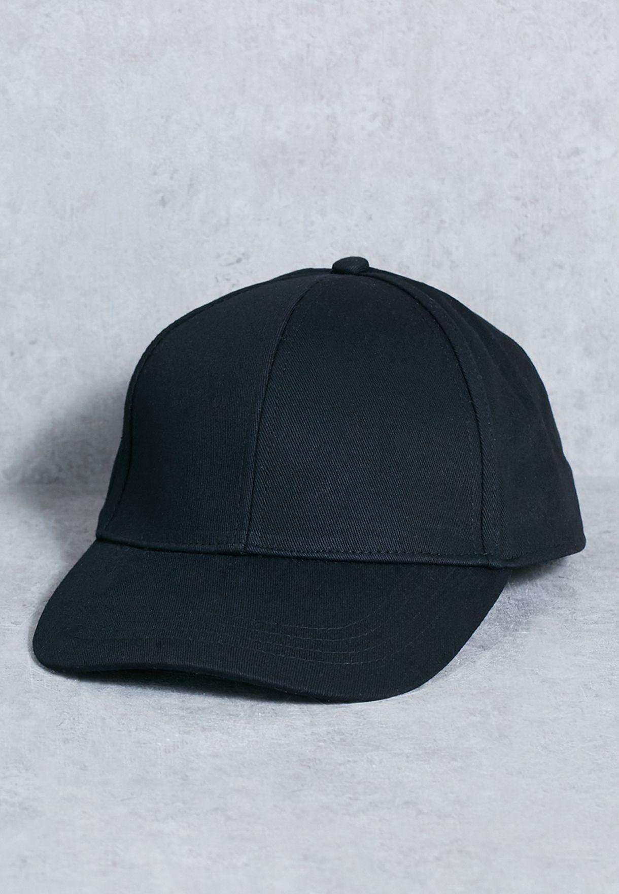 4ca2d375f4121 Shop Topman black Curved Peak Cap 56J28PBLK for Men in Saudi ...