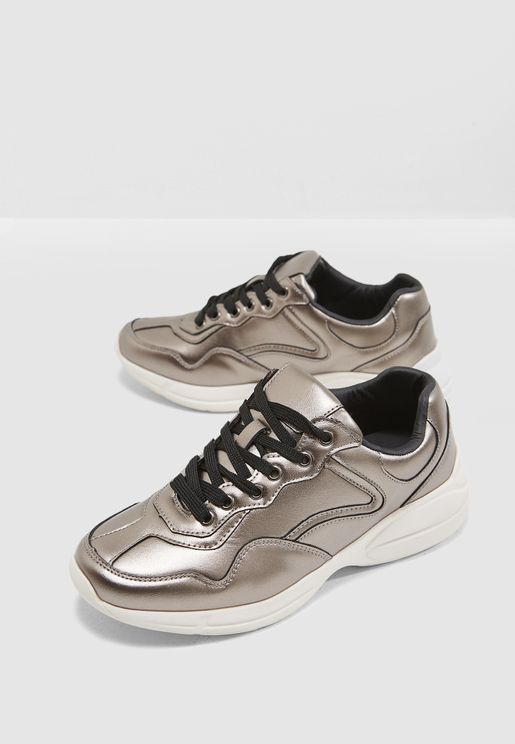 Chunky Metallic Sneakers