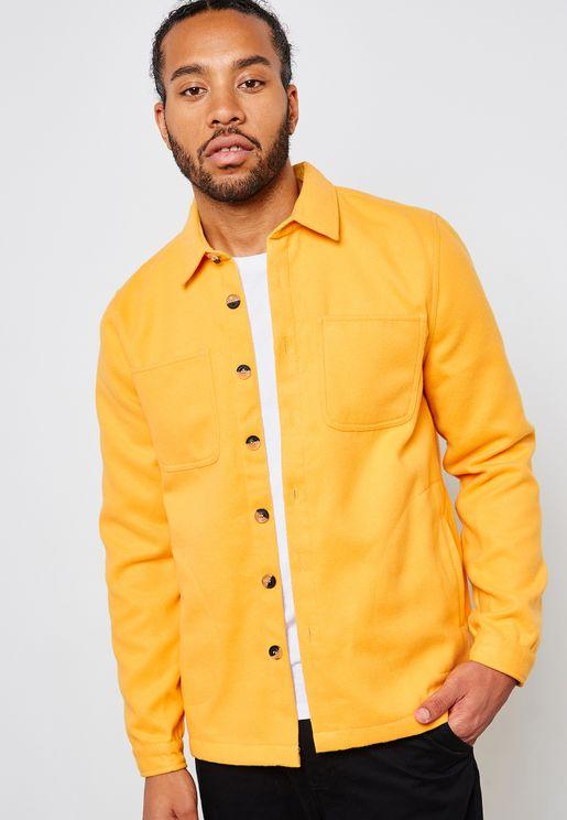 Fleece Pocket Detail Over Shirt