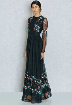 Frock and Frill Embroidered Gown