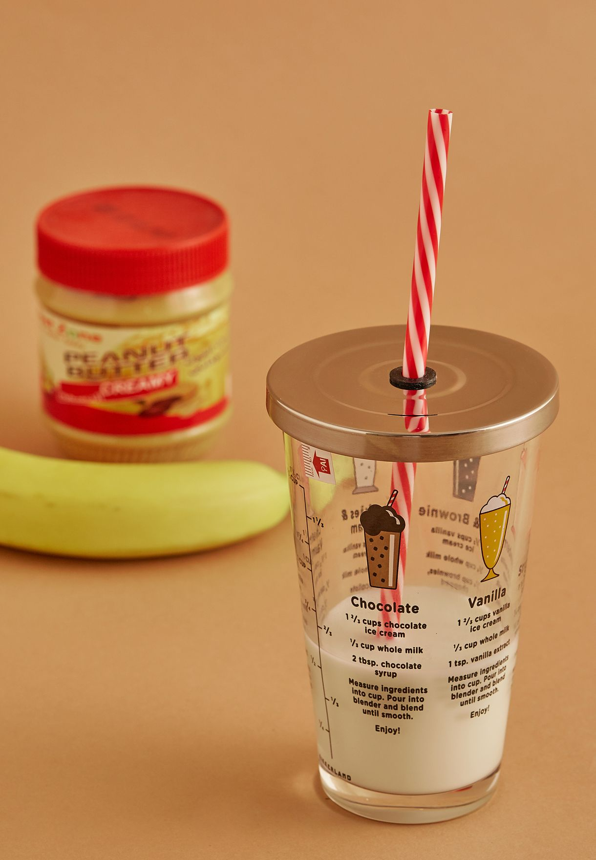 Milkshake Travel Cup With Recipes