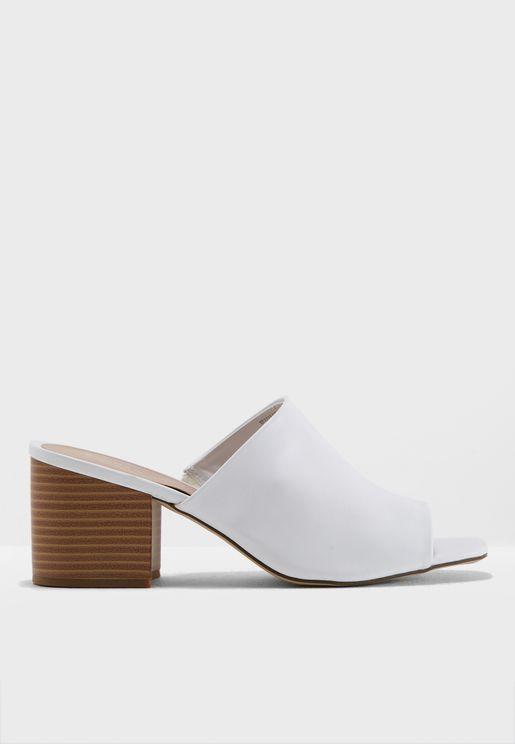 Puggle Block Heel Sandal