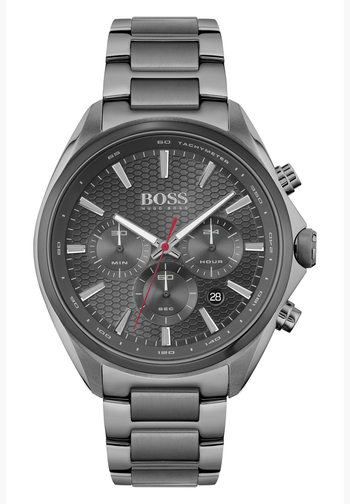 ساعة هوغو بوس ديستينكت من الستانلس ستيل للرجال - 1513858