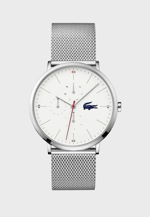 ساعة لاكوست مون بسوار شبكي للرجال - 2011025