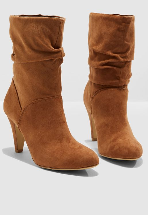 Kylie Ruched Boot