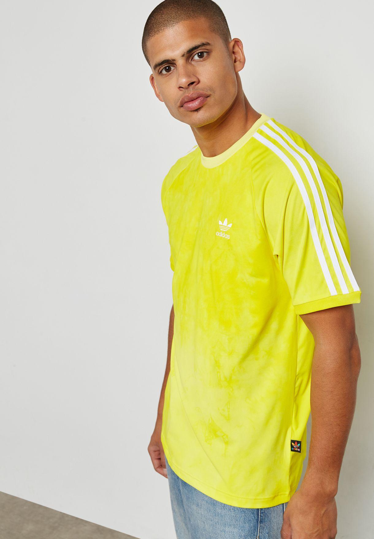 dc8a65221 Shop adidas Originals yellow Pharrell Williams Hu Holi T-Shirt ...