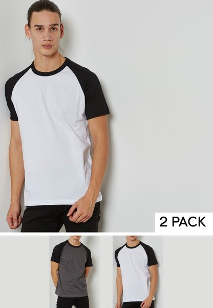 2 Pack Raglan Crew Neck T-Shirt