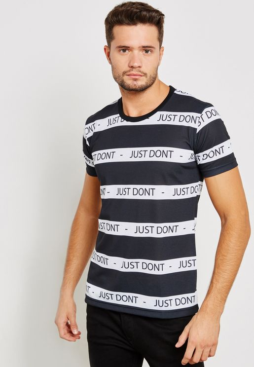 Just Don't Striped Crew Neck T-Shirt