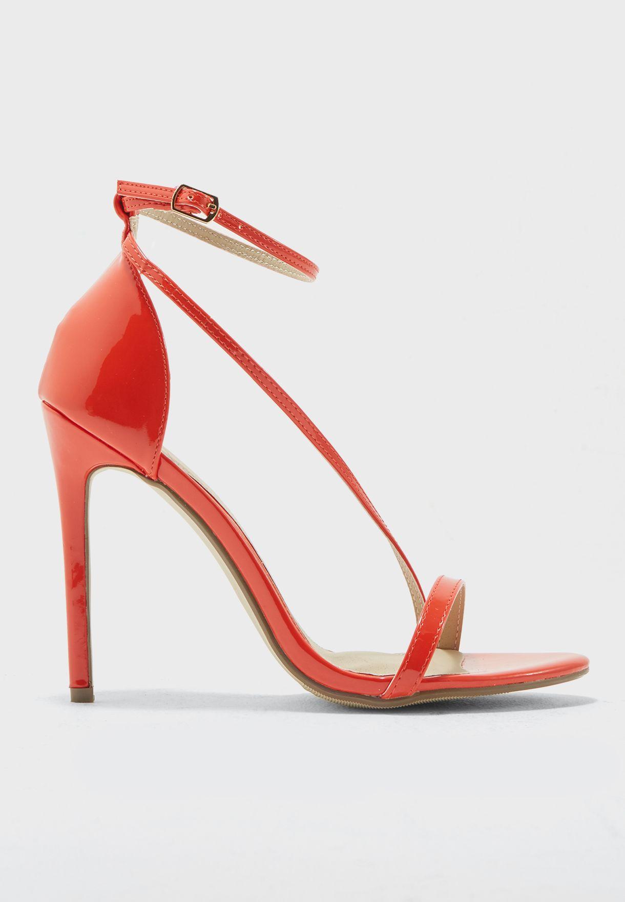 86d315a7ec1599 Shop Missguided red Asymmetric Strappy Sandal F1607551 for Women in Oman -  MI669SH18ELX