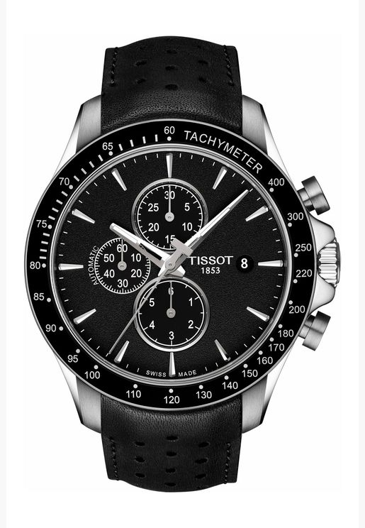 Tissot V8 Chrono Auto Leather Strap Watch for Male - T106.427.16.051.00