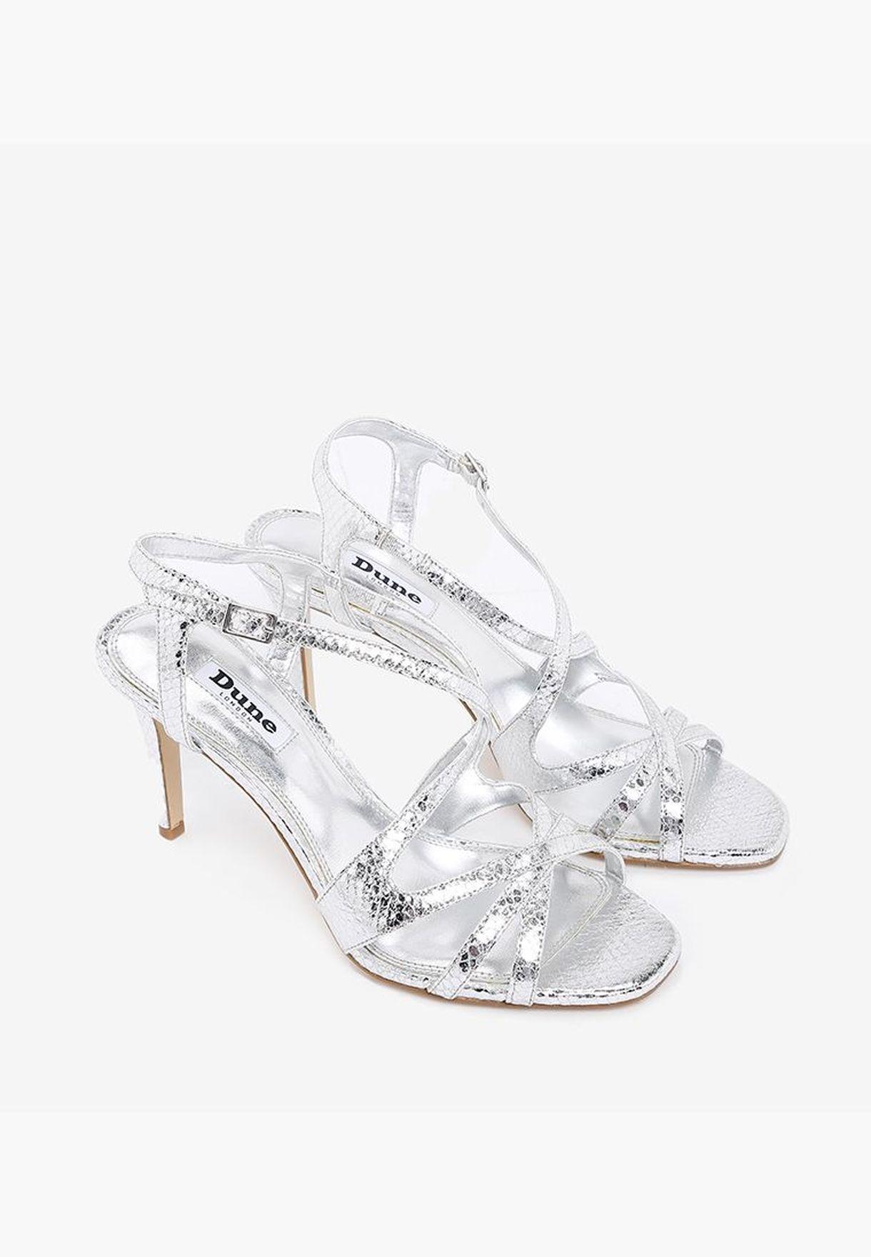 Buy Dune London silver Mysticks Sandal