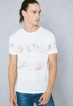 Stripe Floral T-Shirt