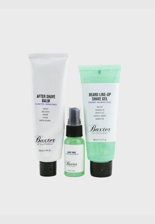مجموعة من 3 قطع Shave Essentials: تونر حلاقة 30مل + جل حلاقة Beard Line-Up 100مل + بلسم بعد الحلاقة 120مل