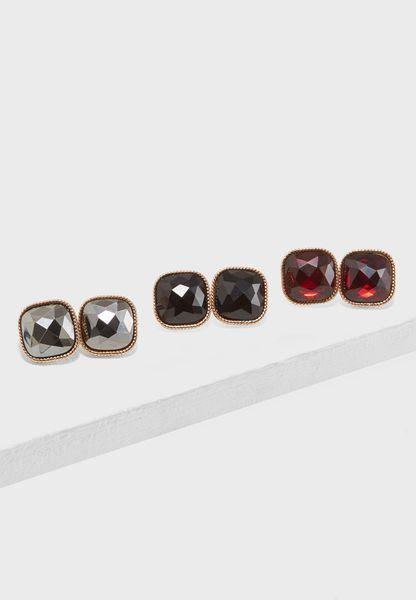 3 Pack Milita Earrings
