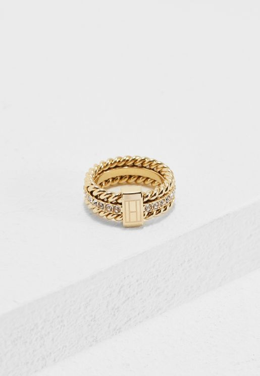 Small Rope & Stone Ring