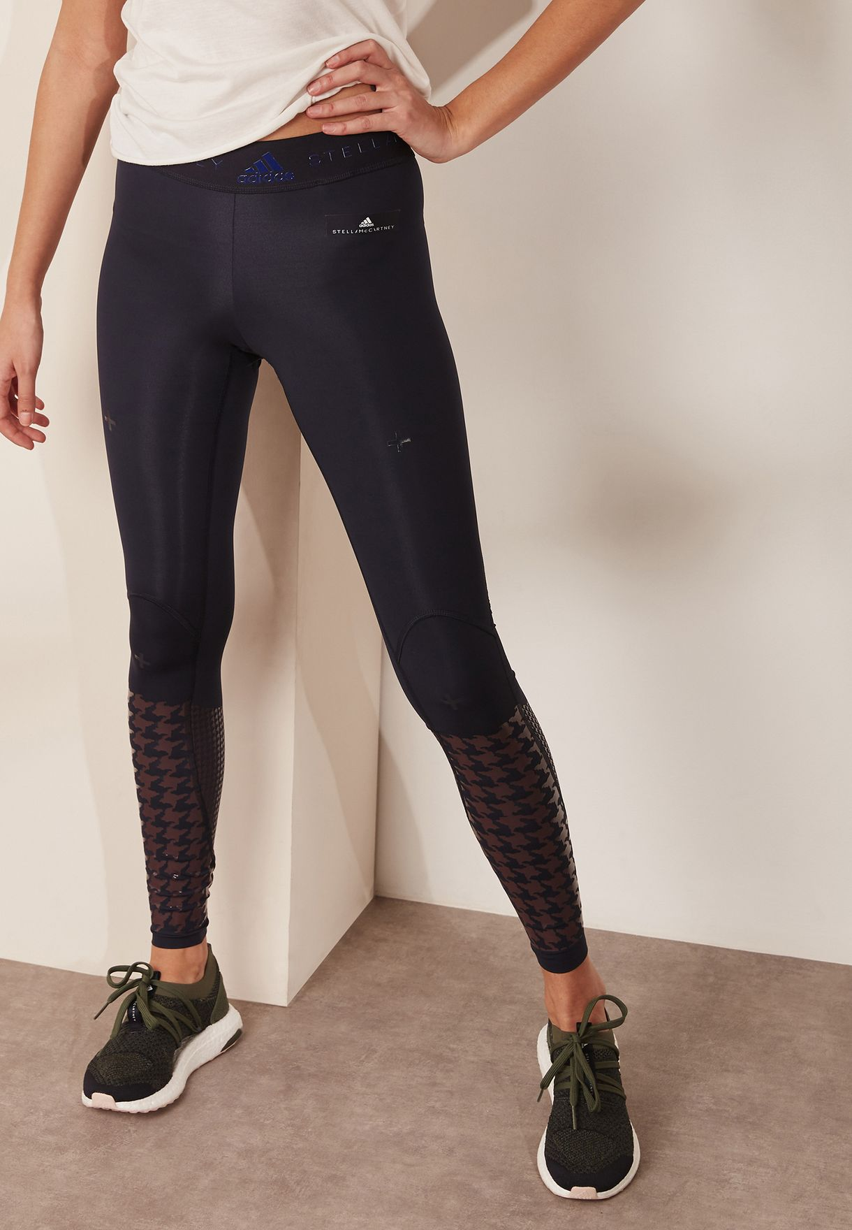 88a77320e7e072 Shop adidas by Stella McCartney navy TechFit Recovery Tights BQ5134 for  Women in UAE - AD399AT18YVT