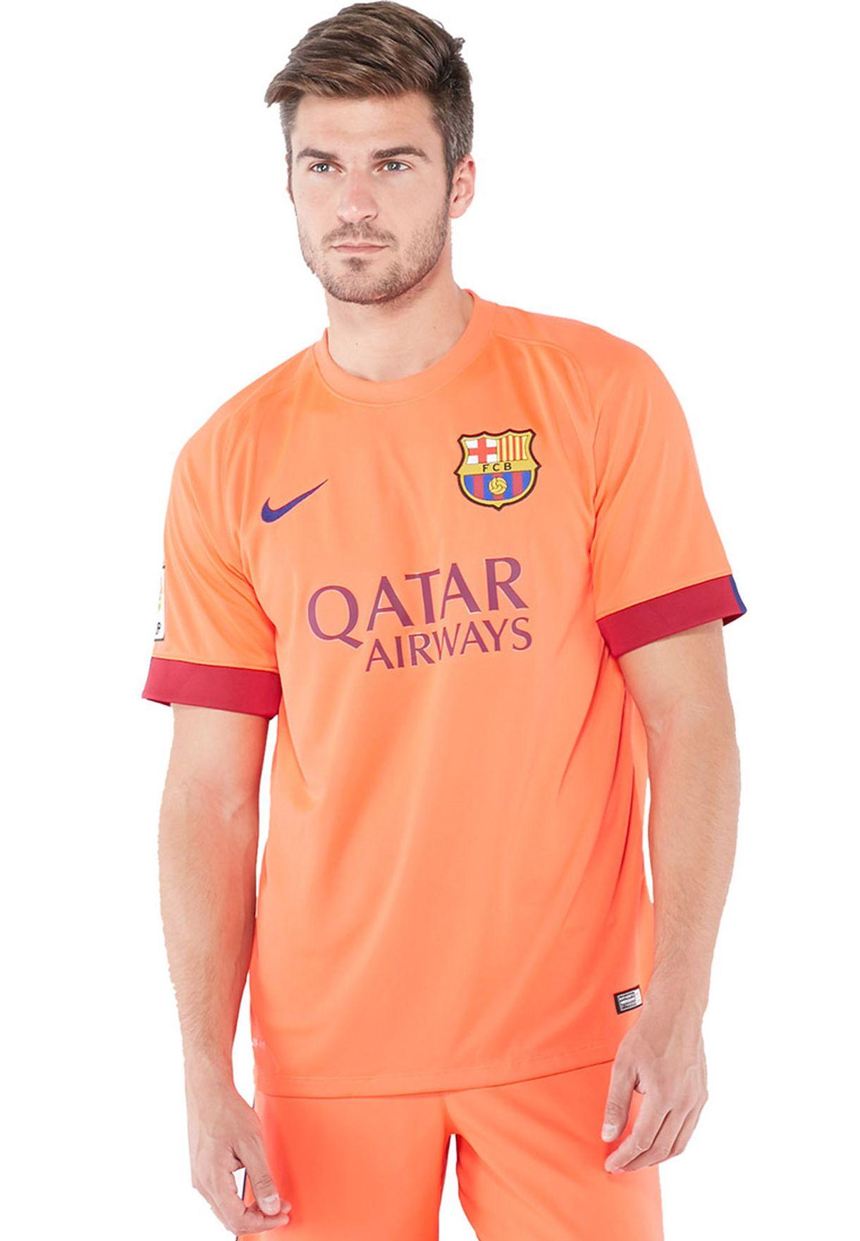 5eb13d76453 Shop Nike orange FCB Away Stadium Jersey 610595-673 for Men in Qatar ...