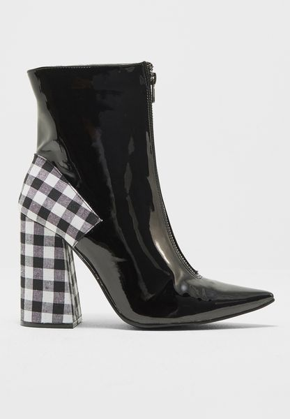 Lissy Roddy Dream Zip Gingham Flared Heel