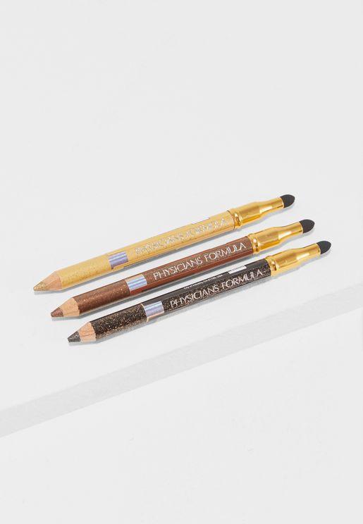 Pencil + Smudger Trio Glam Nude