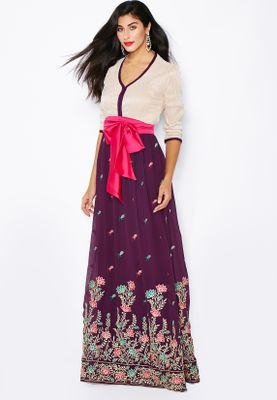Threadz Embroidered Skirt Dress