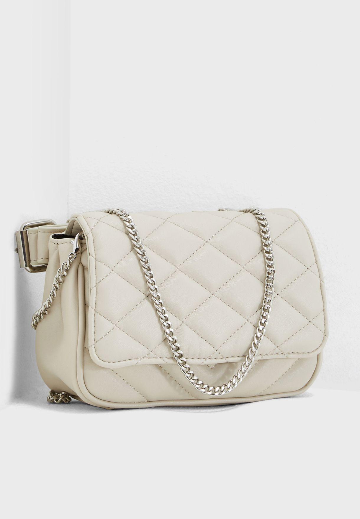 30a2da74cc Shop Mango white Gabi Quilted Crossbody 33013804 for Women in Saudi ...