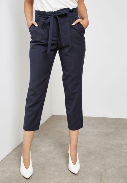 Paper Bag Belted Pants