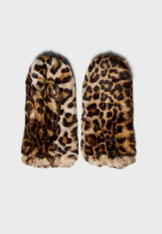 Fur Mittens Gloves