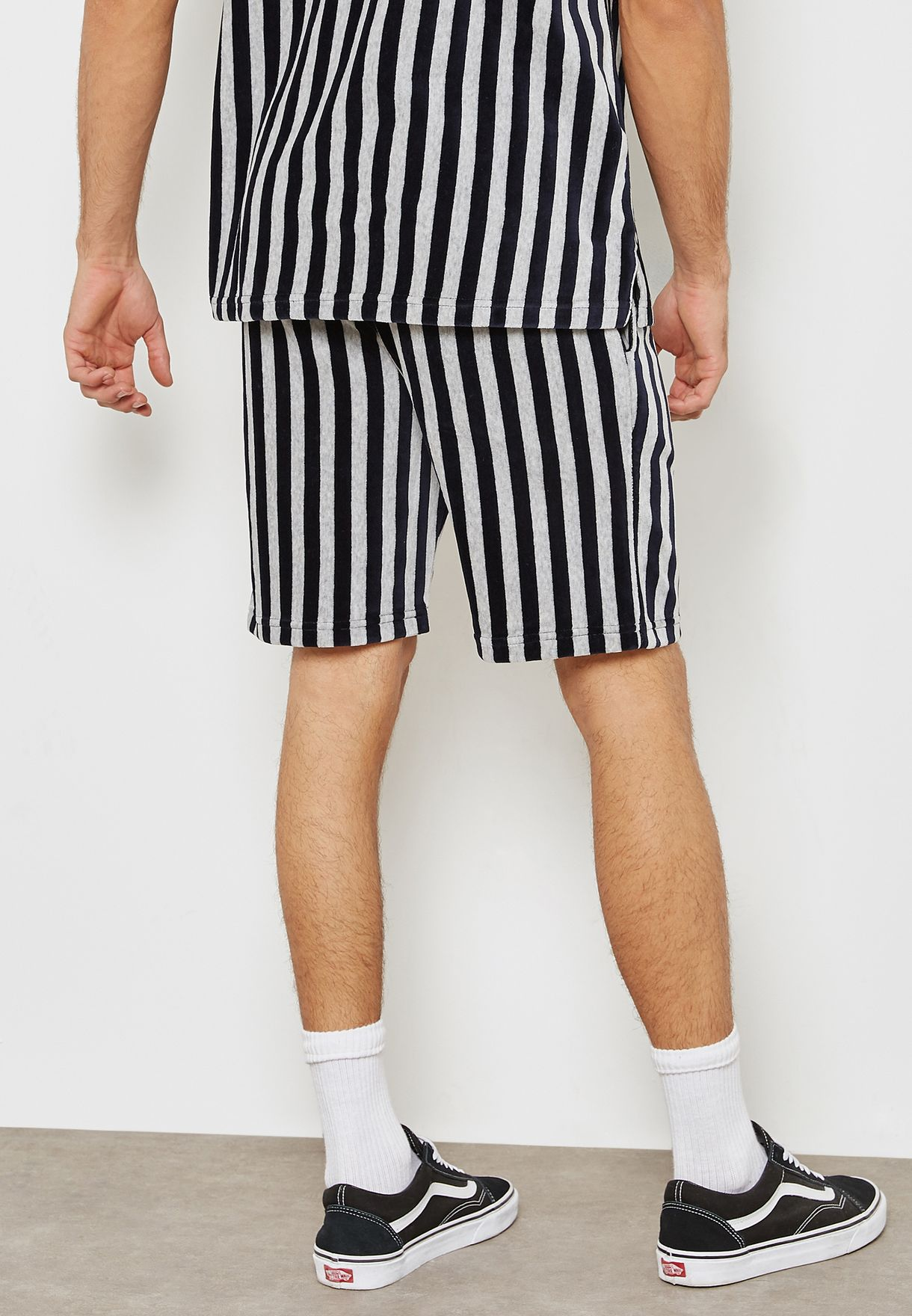 Stripped Towelling Shorts