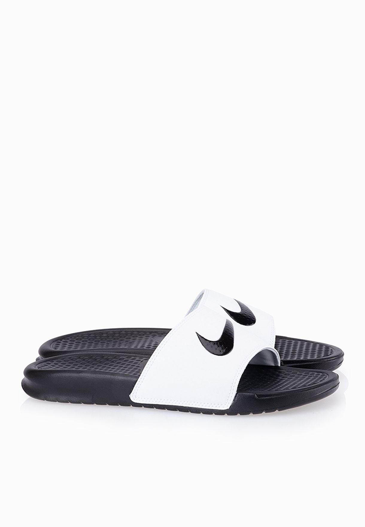 cd097f617f1a Shop Nike monochrome Benassi Swoosh Flip Flops 312432-102 for Women ...