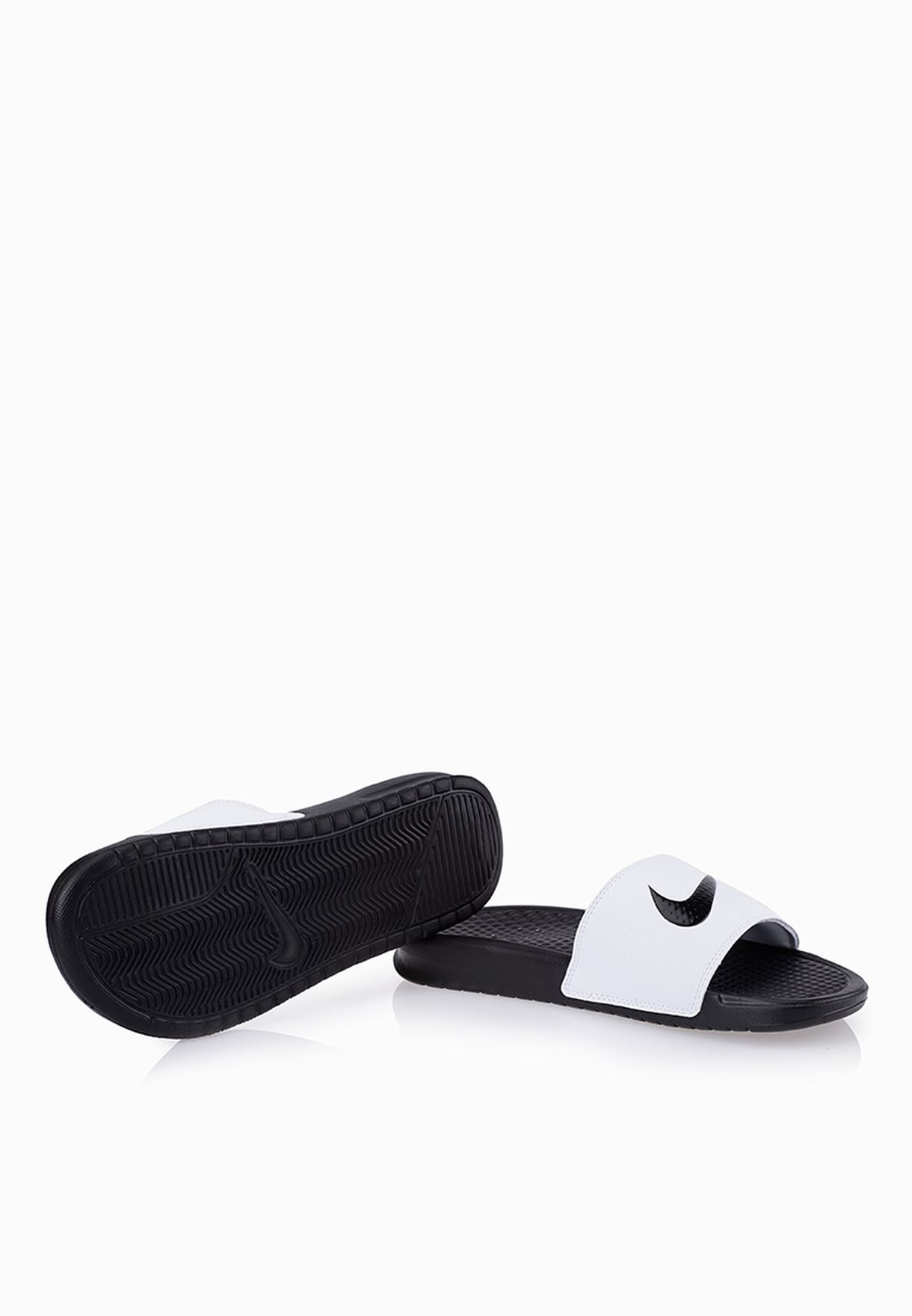 d4a1374dd949 Shop Nike monochrome Benassi Swoosh Flip Flops 312432-102 for Women ...